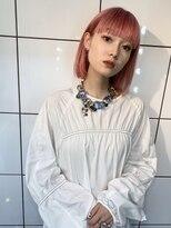 シャチュー(SHACHU)【MORIYOSHI】艶カラー☆シルクピンク×耳掛けボブ