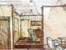 リル ライフスタイル(lil Life style)の雰囲気(半個室になったシャンプーブース。ゆったりお寛ぎいただけます…)