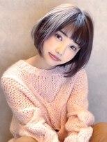 アグ ヘアー ジゼル 花巻店(Agu hair gisele)《Agu hair》大人かわいい透け感カラー×ショート