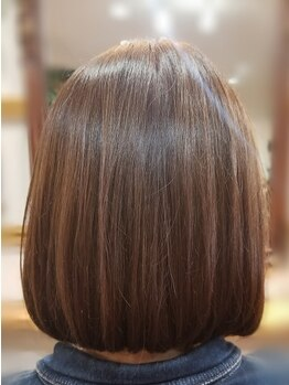 サイカエー(SAIKA)の写真/【縮毛矯正+カット+Tr¥9600】扱いやすく艶のあるストレートはSAIKA(a)にお任せ!滑らかな仕上がりをお届け♪