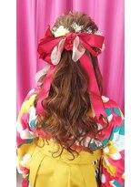 ヘアーアンドメイクサロン ハナココ(hair&make salon hana Coco)袴 卒業式ヘア ゆるふわハーフアップ&袴着付け♪