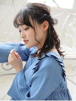 ガレットウメダ(GALETTE UMEDA)#透明感黒髪ロング#ハーフアレンジ#ノットヘア#ガレット梅田