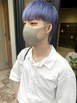 ヘアー アイス ルーチェ(HAIR ICI LUCE)パープルカラー 紫 青紫 ハイトーン メンズハイトーン 担当城倉