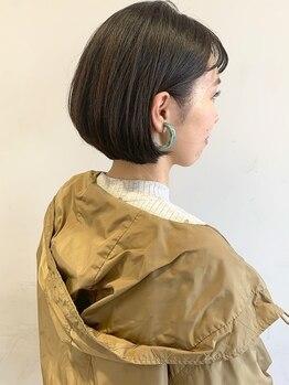 エムサロン(emu salon)の写真/カット技術の差が出やすいショートも丁寧なカウンセリングと似合わせカットで乾かすだけで小顔効果◎