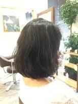 グラシア ヘア(gracia hair)パーマ風黒髪ふんわりボブ