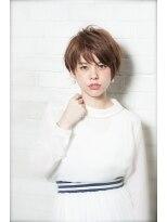 ミンクス 原宿店(MINX)【似合わせカット】大人の小顔ノーブルショート×ブルージュ