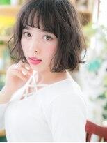 ■bliss戸田公園104-2★■くせ毛風カールの黒髪フェミニンボブ