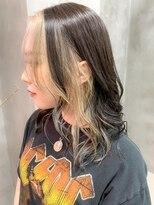 テトヘアー(teto hair)前髪ハイライト、インナーカラー、ローライト、ツートーンカラー