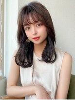 シェルハ(XELHA)アフロート斎藤 20代30代髪型セミロングベージュ小顔前髪