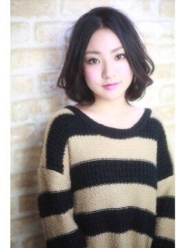 リアン(Lian) Lian【畠山亮介】黒髪前髪長めボブパーマ