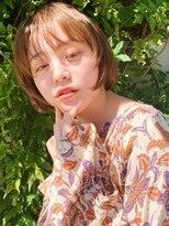ラパンセブルー(LA PENSEE BLEU)【LA PENSEE】大人かわいいマッシュボブ オレンジベージュ