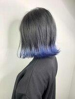 ソース ヘア アトリエ 京橋(Source hair atelier)【SOURCE】ブルー裾カラー
