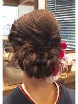 美容室 レア(lea)leaねじり編み込みルーズヘアセット