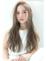 【Blanc/浜松】グレージュ_抜け感ハイライト_透明感ロング