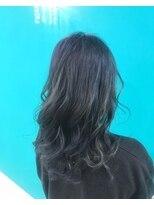 透明感ブルーカラー