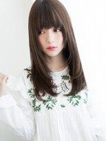厚めバング×Aライン☆姫カットスイートロング