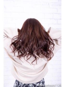 ヘアーメイク ダンス(hair make DANCE)ヘアカラーピンクベージュ透明感抜群外国人風エドルカラー