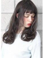 ヘアサロン ガリカ 表参道(hair salon Gallica)☆ グレージュ & 外国人風ウェーブ ☆ オン眉 小顔 semi-long☆
