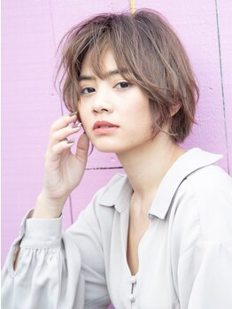 サインヘアー 静岡(sign hair)の写真/ショート・ボブStyleが得意な小幡さん◎360度どこから見ても美しいフォルムで愛されショートヘアに♪