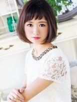 【ジュレベール 松田】 眉上ショートバングで可愛く大人女子ボブ