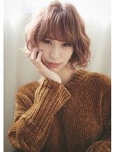 マージュ ギンザ(marju GINZA)冬モテ髪 とろみカシスべージュ×ハイライト ショートボブ