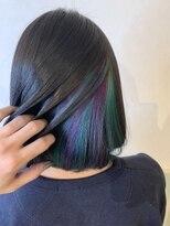 ヘアーサロン リアン 熊谷2号店(hair salon Rien)インナーバイオレット×グリーン♪