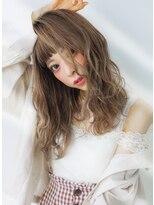 ヘアー ピープル(Hair People)ライトグレージュ×波打ちセミディ☆