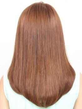 キートス ヘアーデザインプラス(kiitos hair design +)の写真/まとまらない、広がる、クセ、うねりなどお悩みを解決!生まれつきの直毛のような自然でしなやかな質感へ*
