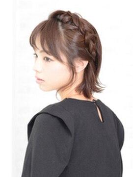 ヘアメイク アース 福井大和田店(HAIR & MAKE EARTH)カチューシャ風編みこみアレンジ