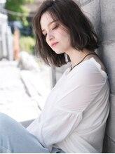 アメリつくば天久保(Amelie)ナチュラル×透け感ルージー☆こなれニュアンスな美ラインボブ