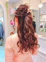 ラ ブランシュ 大宮(La Blanche)ナチュラルハーフアップ/大宮美容室/韓国ヘア/髪質改善/透明感