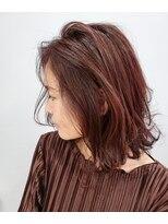 エイム ヘアメイク 横川店(eim HAIR MAKE)オータムピンク×切りっぱミディ