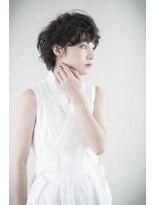 【THREEbyKEEP、尾山台木田】ゆれ髪ベリーショート、ピンパーマ