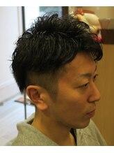 レーヴ ヘアー(Reve hair)王道ツーブロック+スパイラルパーマ