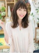 カバーヘア ブリス 北浦和西口店(COVER HAIR bliss)*bliss北浦和*斜めバングのくせ毛風MIXカールa