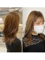 ■韓国風スタイル!うぶ毛バングアギーバング×外巻きウェーブ■