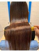 スローライフヘアーデザインアンドスパラウンジ(Slow life Hair design spa lounge)潤ツヤロング 質感矯正ミネコラ+カラー