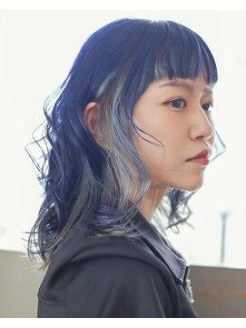 ニコヘアー(niko hair)ネイビーブルー×シルバー