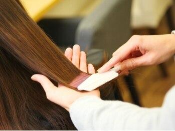 シンパティア(Simpatia)の写真/リーズナブルな料金設定が◎♪髪&肌に優しい天然由来のハーブエキス&オーガニックオイルで艶めく髪色へ☆