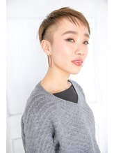 モカ ヘアーデザイン(moca HAIR DESIGN)ハイトーンカラーのタイトなベリーショート