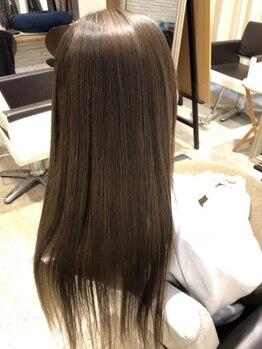 """マレア(MAREA)の写真/まとまらない髪でも""""作りこみすぎない""""自然なストレートが叶う☆髪質改善&ケアならお任せ♪[立川]"""