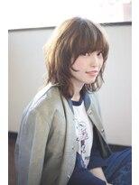 【アフロート中島直樹】梨花さん風グレージュウルフハイレイヤー