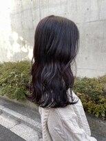 *ブリーチなしラベンダーブラウン暗髪艶髪パープルピンクカラー