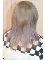 ヘアーサロン エール 原宿(hair salon ailes)(ailes原宿)style308 デザインカラー☆ホワイトパープル