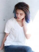 【Red-ux 代官山】デザインカラー 青×紫