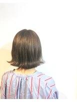 ヘアメイク オブジェ(hair make objet)オリーブベージュ ボブ