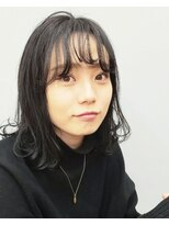 エイム ヘアメイク 横川店(eim HAIR MAKE)切りっぱミディ×暗髪ダークグレー