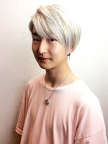 【メンズ】☆ツーブロ×ホワイトカラー(Wカラー)☆