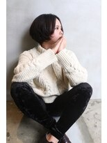【ボブ×センターパート×ブラック】KOU