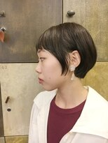 ヘアーアイスカルテット(HAIR ICI QUARTET)ショート × ボブ × ビンテージカーキ